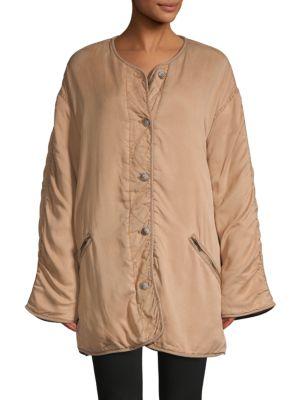 Free People Jackets Reversible Faux Fur-Lined Jacket