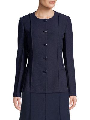 St. John Jackets Ana Boucle Knit Jacket