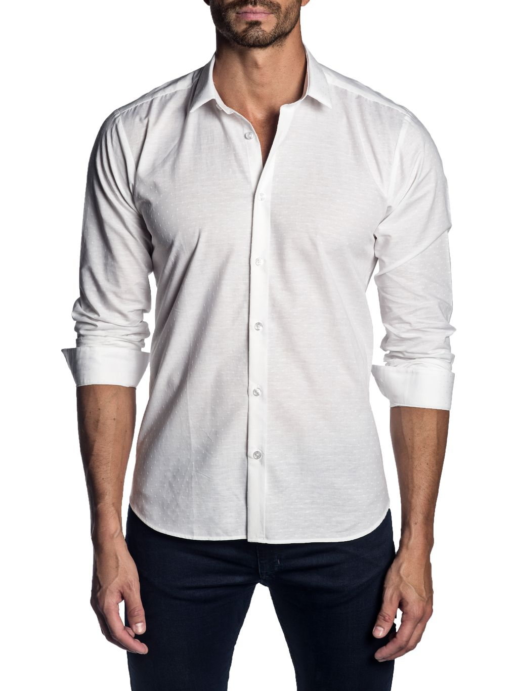 Jared Lang Semi-Fit Spread Collar Shirt