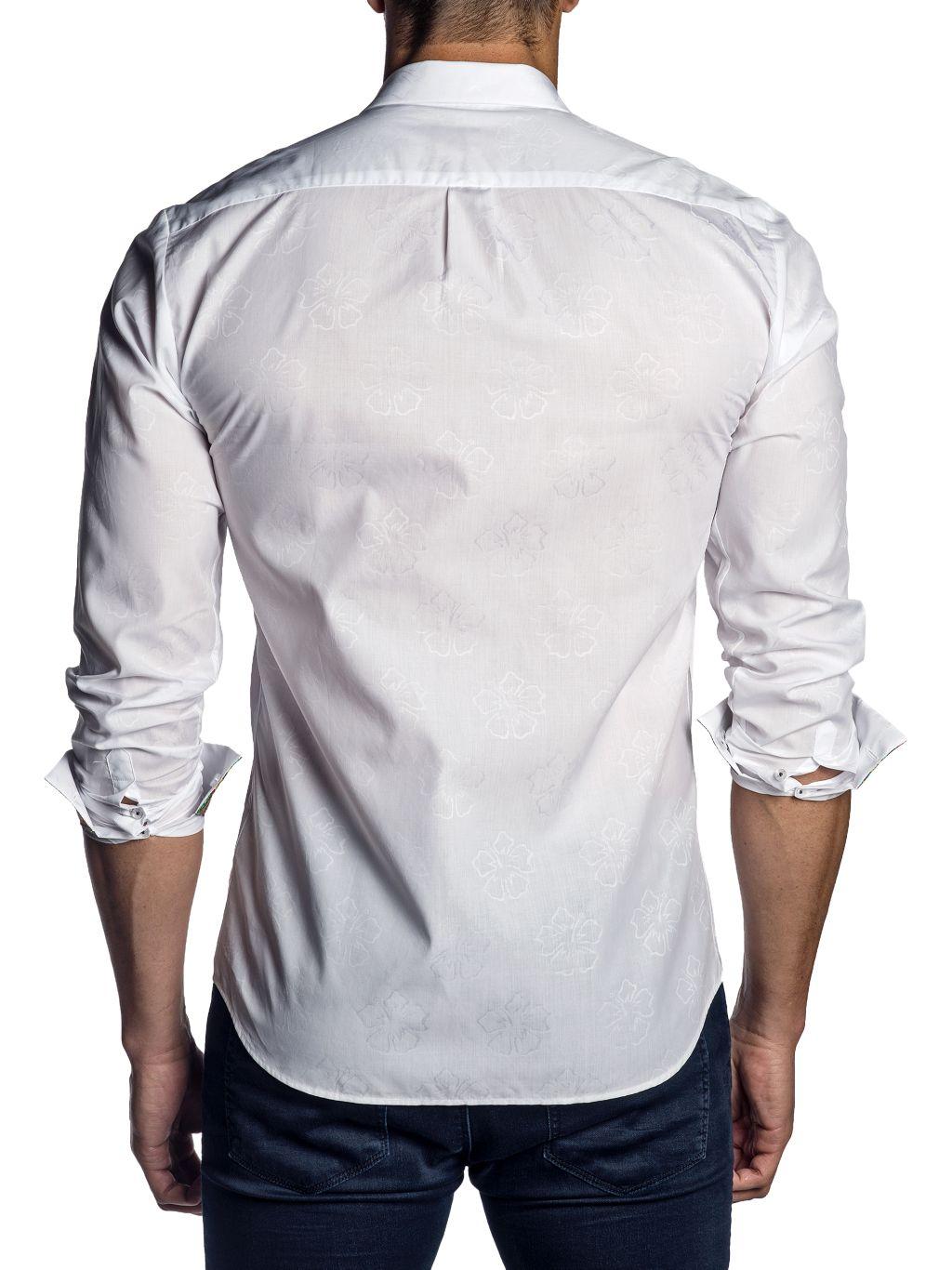 Jared Lang Semi-Fit Jacquard Shirt