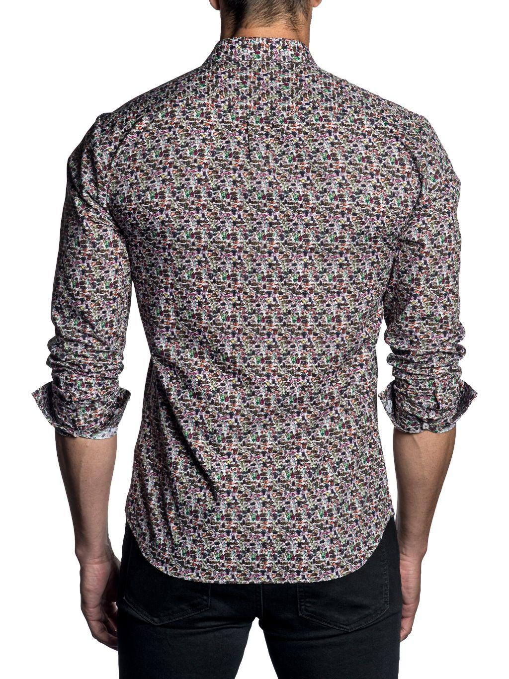Jared Lang Semi-Fit Insect-Print Shirt