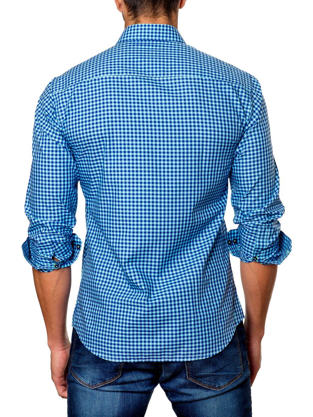 Jared Lang Semi-Fit Gingham Shirt