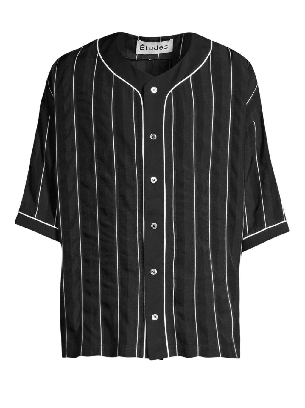 Etudes Harlem Stripe Button-Down Baseball Shirt