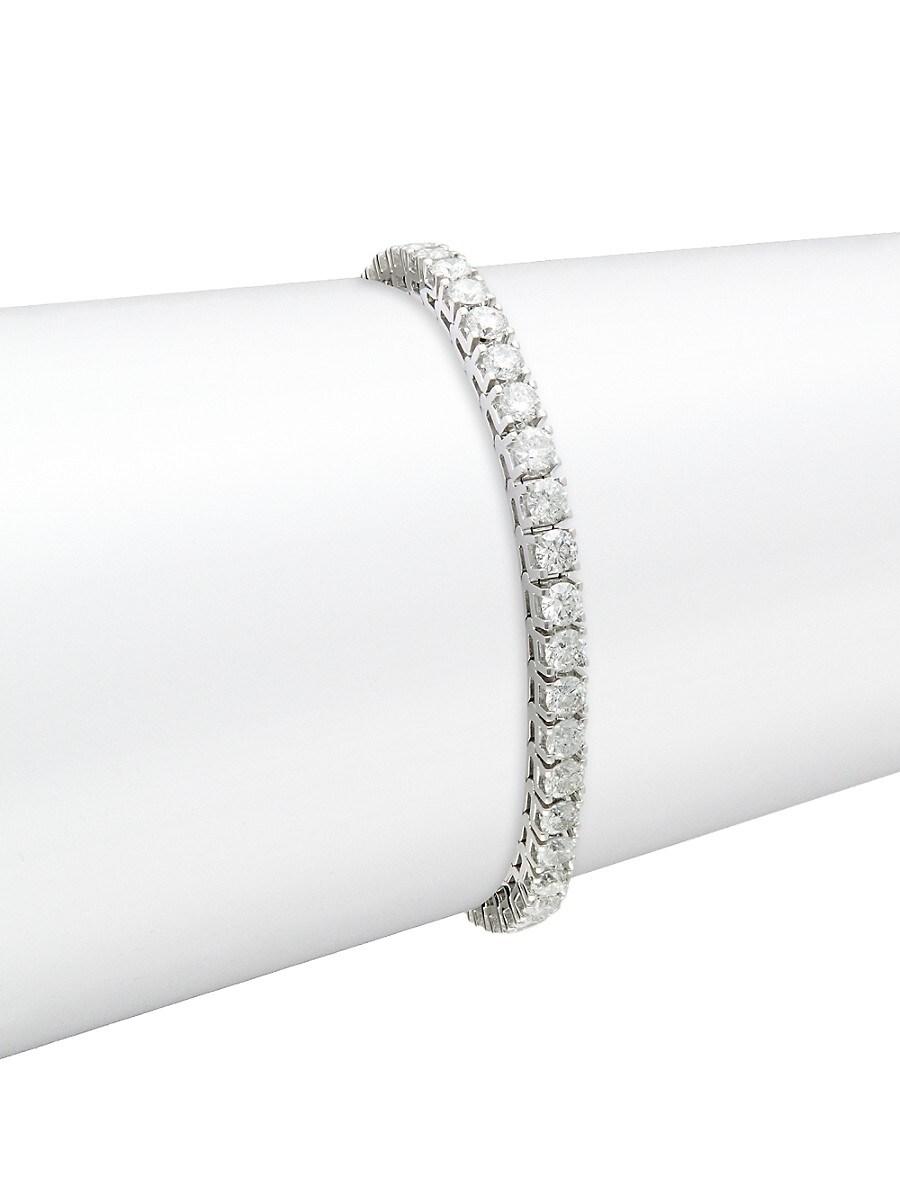 Women's 14K White Gold & 10.0 TCW Diamond Tennis Bracelet