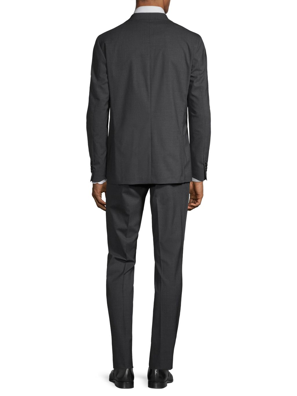 COLE HAAN GRAND OS Modern-Fit Plaid Wool-Blend Suit