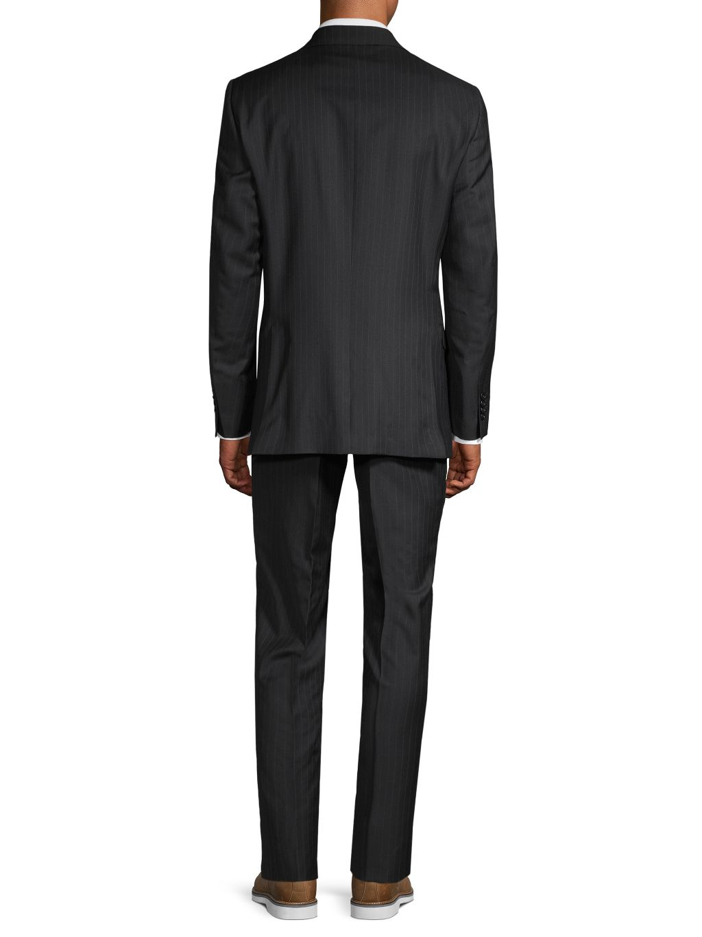 Saks Fifth Avenue Made in Italy Classic-Fit Pinstriped Wool Suit