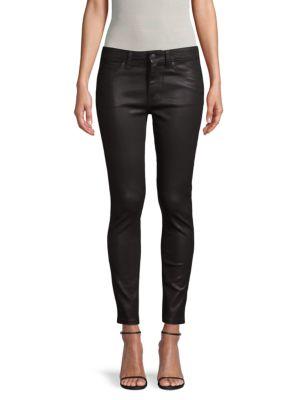 Joe's Jeans Coats Coated Mid-Rise Skinny Jeans