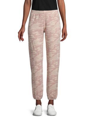 Monrow Pants Camouflage Cropped Jogger Pants