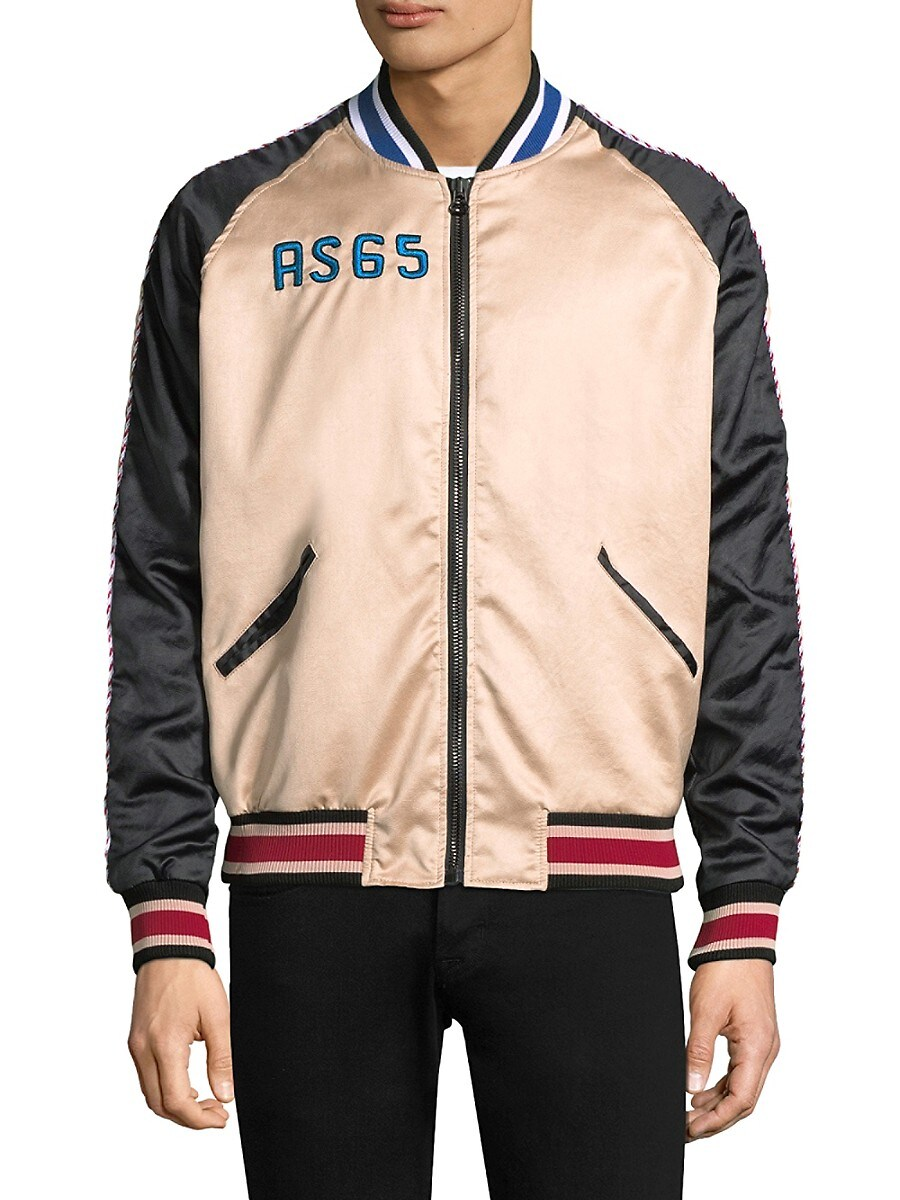 Men's Sporty Embroidered Flamingo Track Jacket