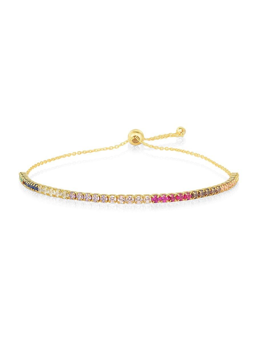 Women's 14K Goldplated Sterling Silver & Crystal Tennis Bracelet