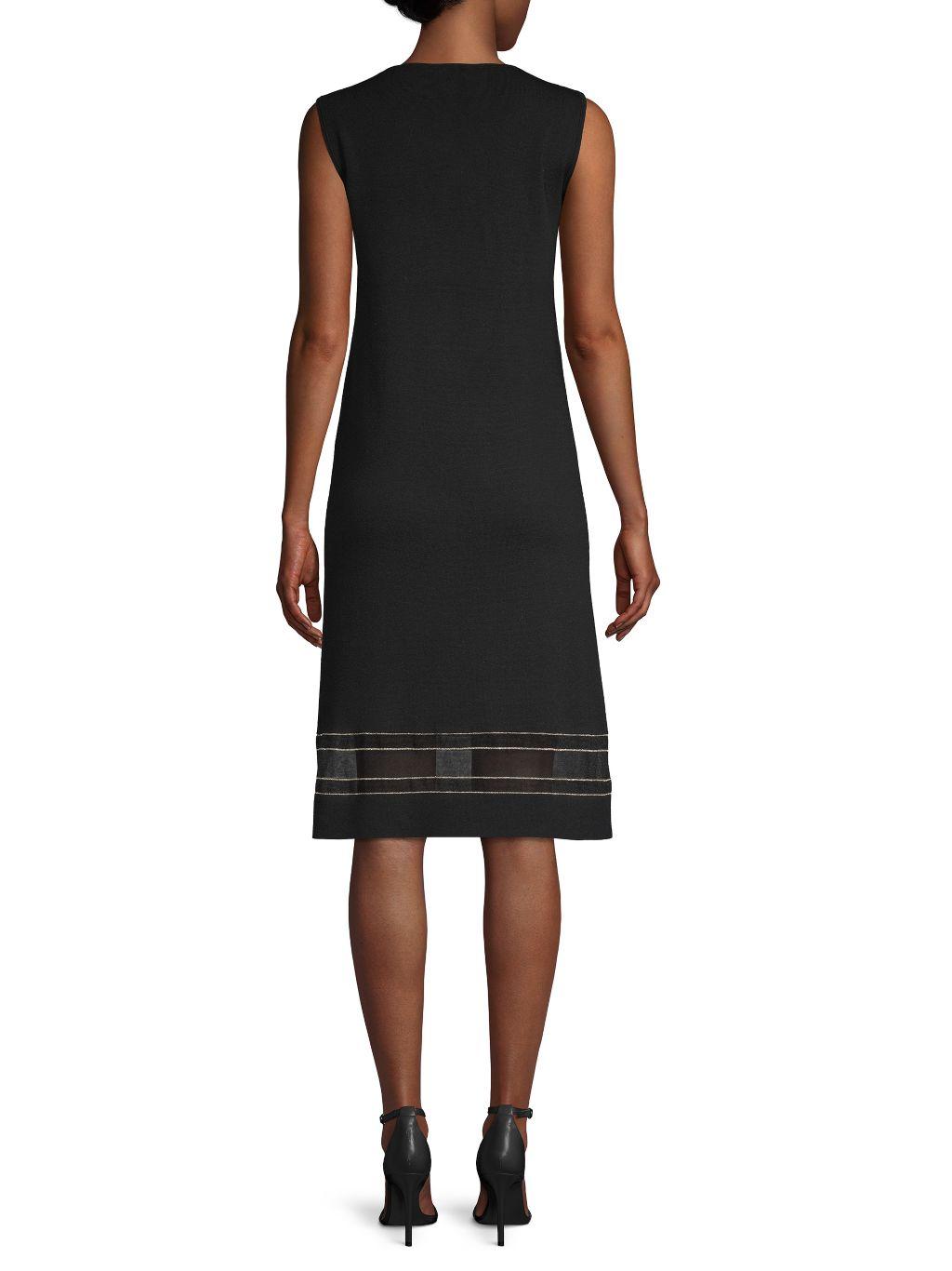 Lafayette 148 New York Sleeveless Shift Dress