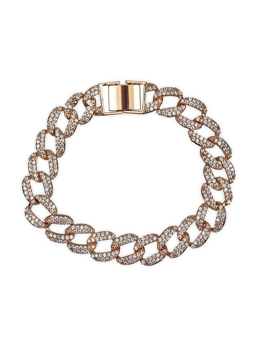 Women's Luxe 18K Goldplated & Crystal Chain Link Bracelet