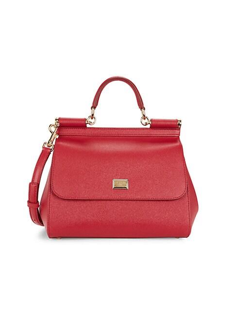 Dolce & Gabbana Leathers MEDIUM SICILY DAUPHINE LEATHER SATCHEL