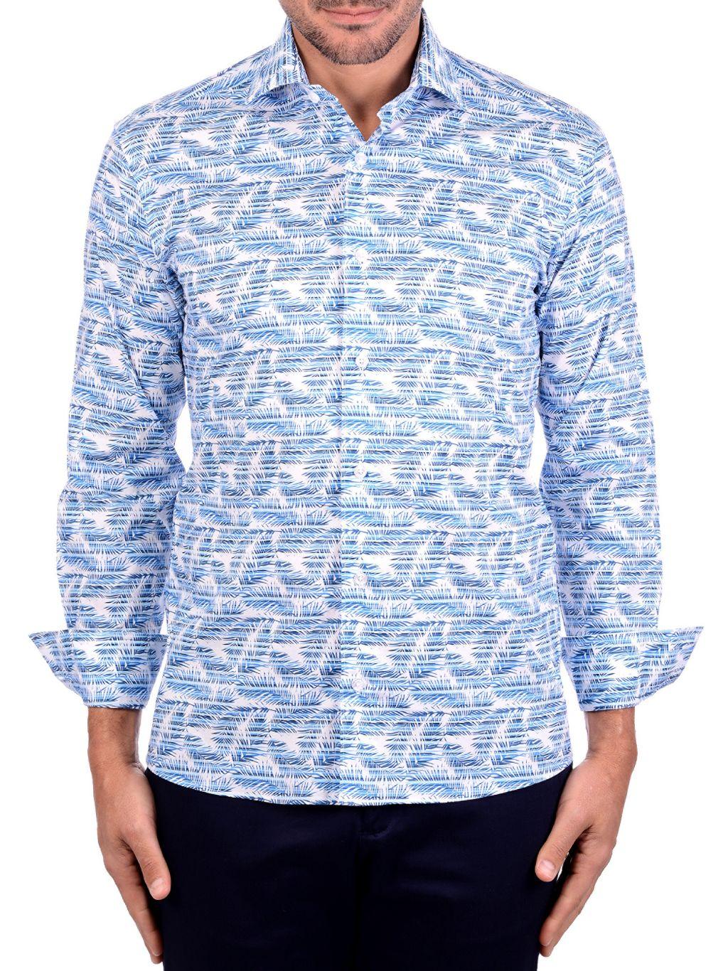 Bertigo Palm Leaf Graphic Shirt