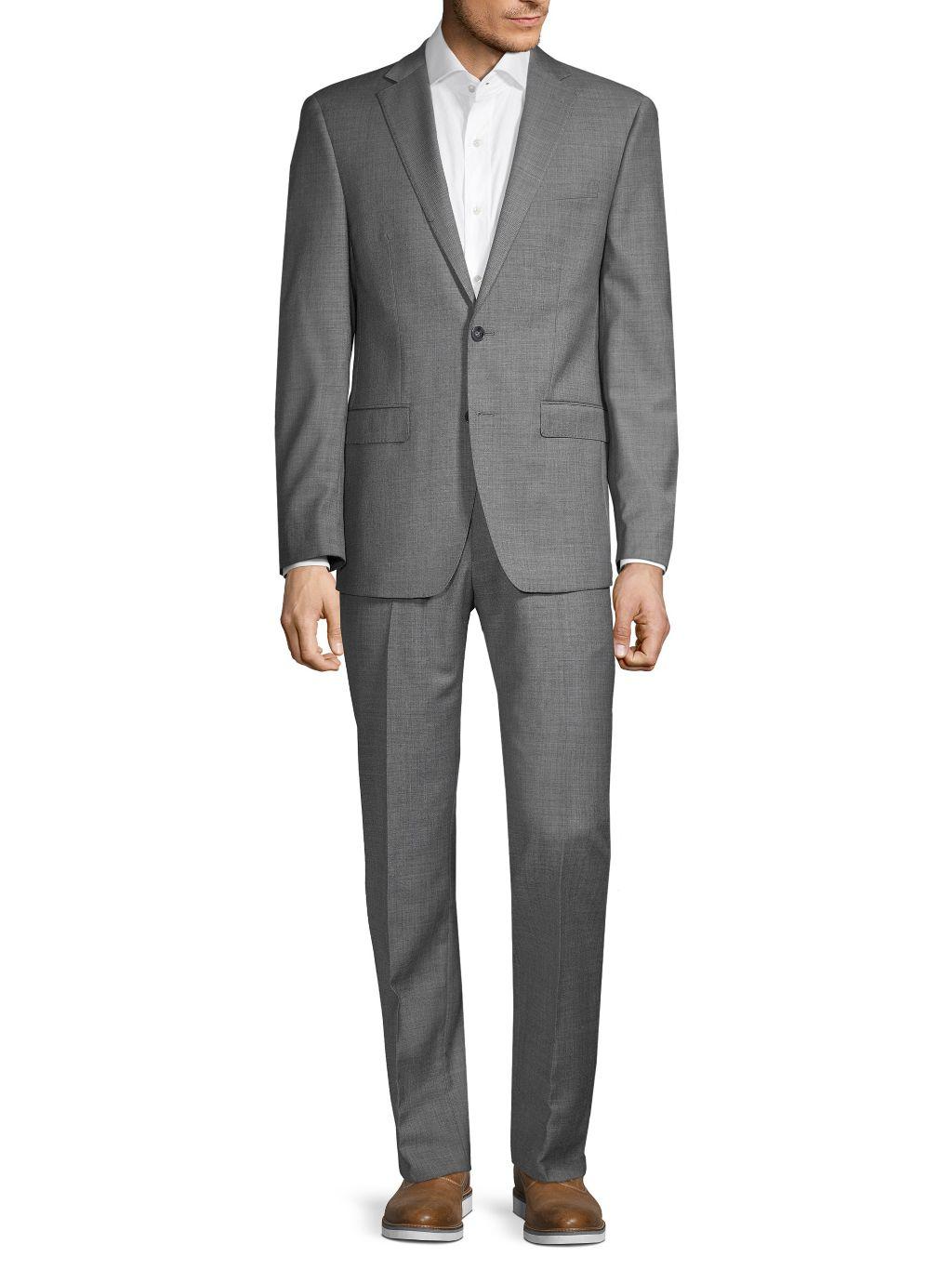 Calvin Klein Slim-Fit Textured Wool-Blend Suit