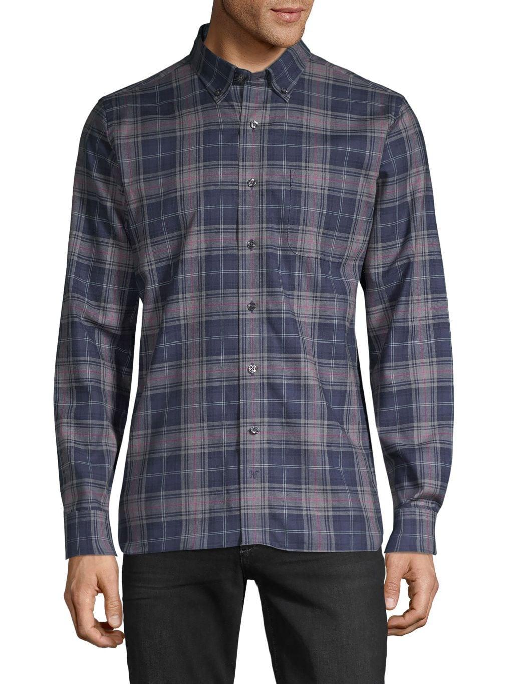 Hickey Freeman Yarn-Dyed Plaid Shirt