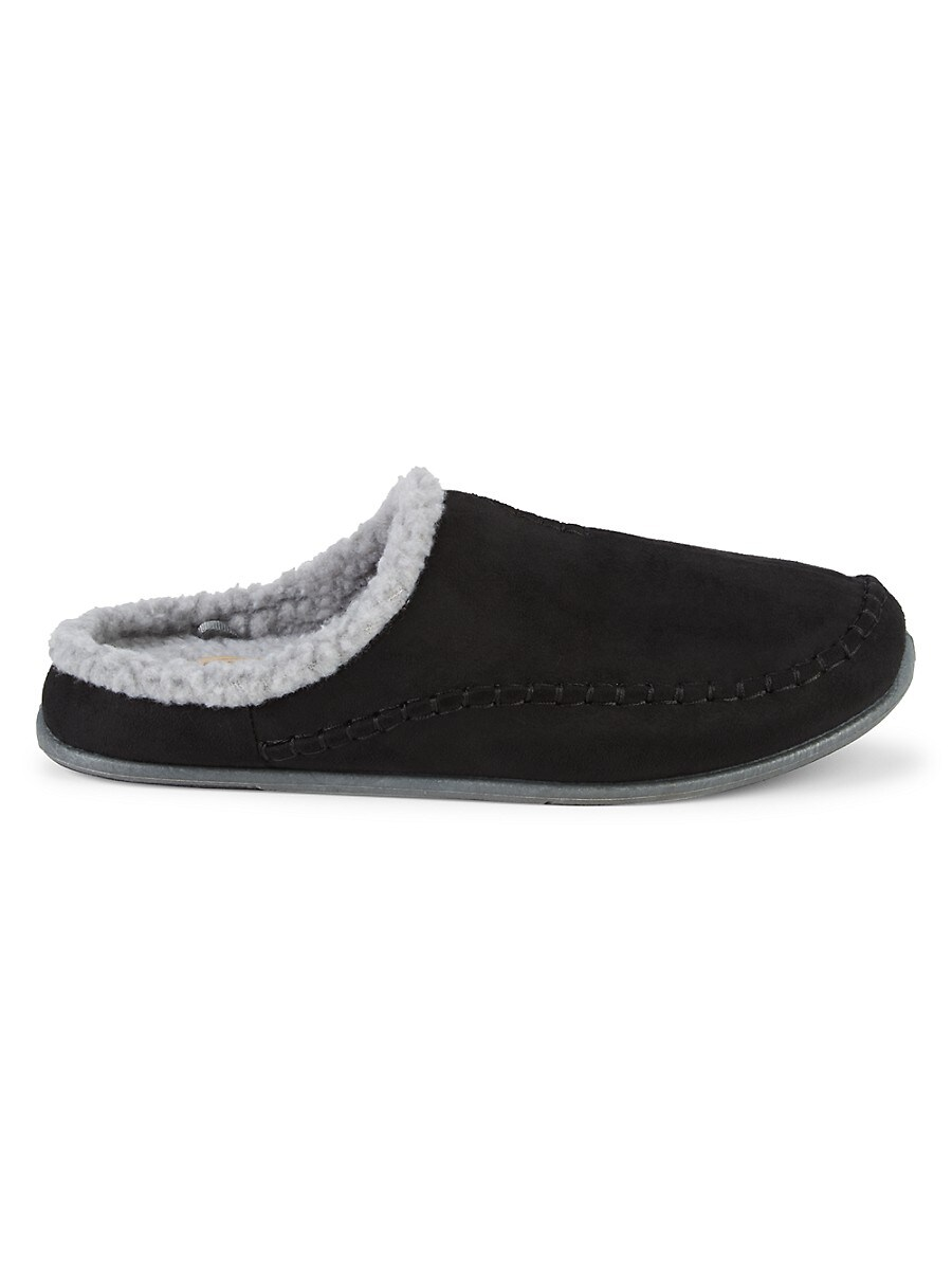 Men's Nordic Faux Fur-Lined Slippers