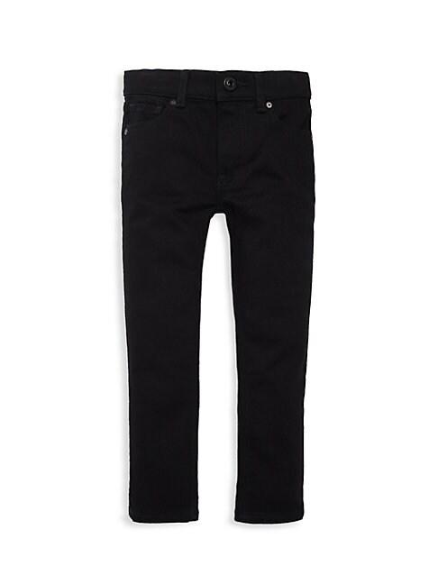 Burberry Kids' Little Girl's & Girl's Zip-fly Stretch Jeans In Black