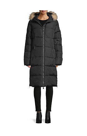 Pajar Canada Fox Fur-Trim Hooded Puffer Coat