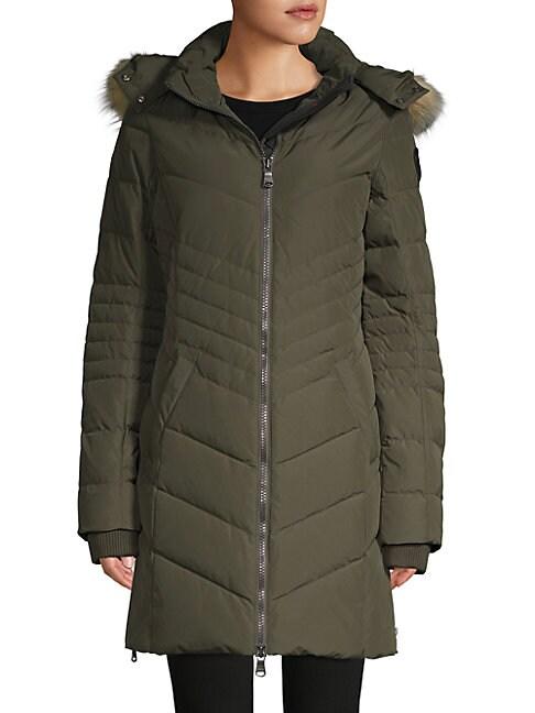 Pajar Canada Fox Fur Trim Down Jacket