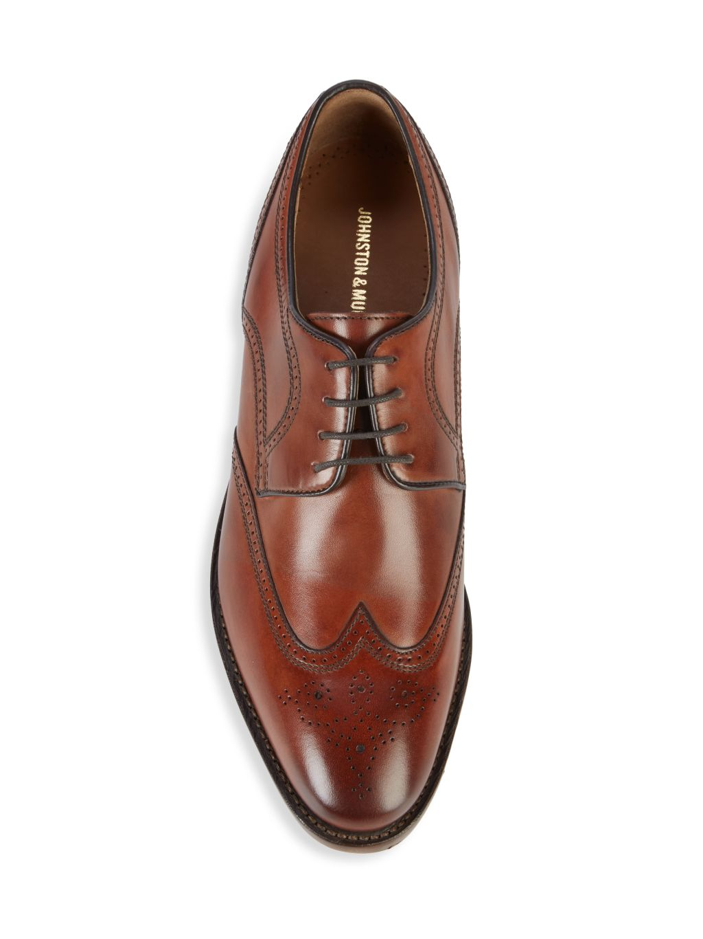 Johnston & Murphy Collins Leather Wingtip Derby Shoes