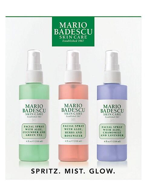 Mario Badescu Facial Spray 3-piece Gift Set