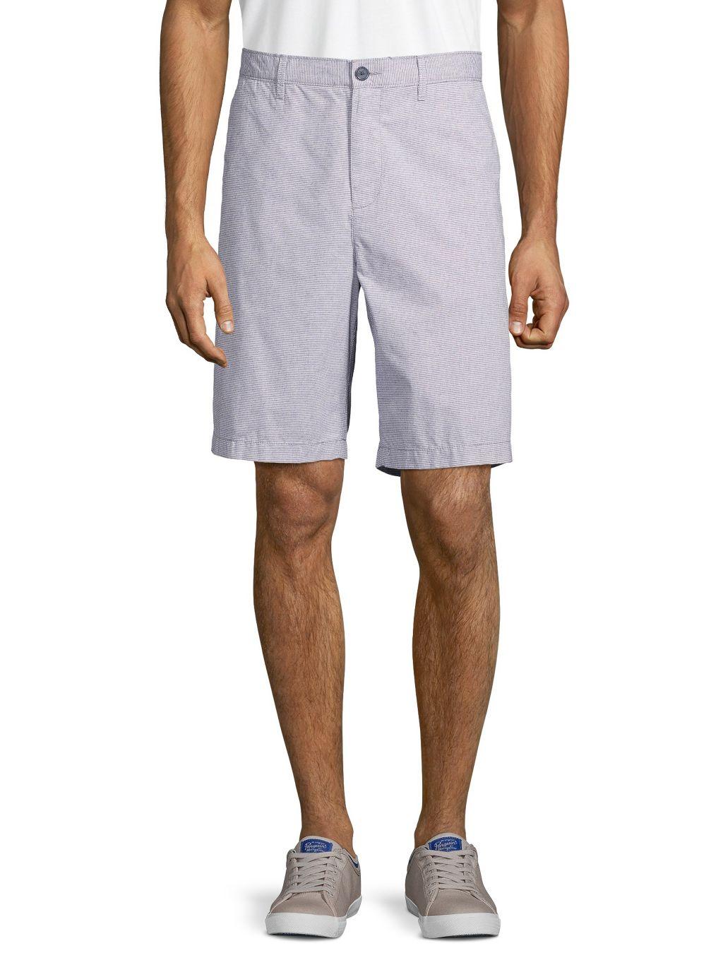 Original Penguin Heathered Cotton-Blend Shorts