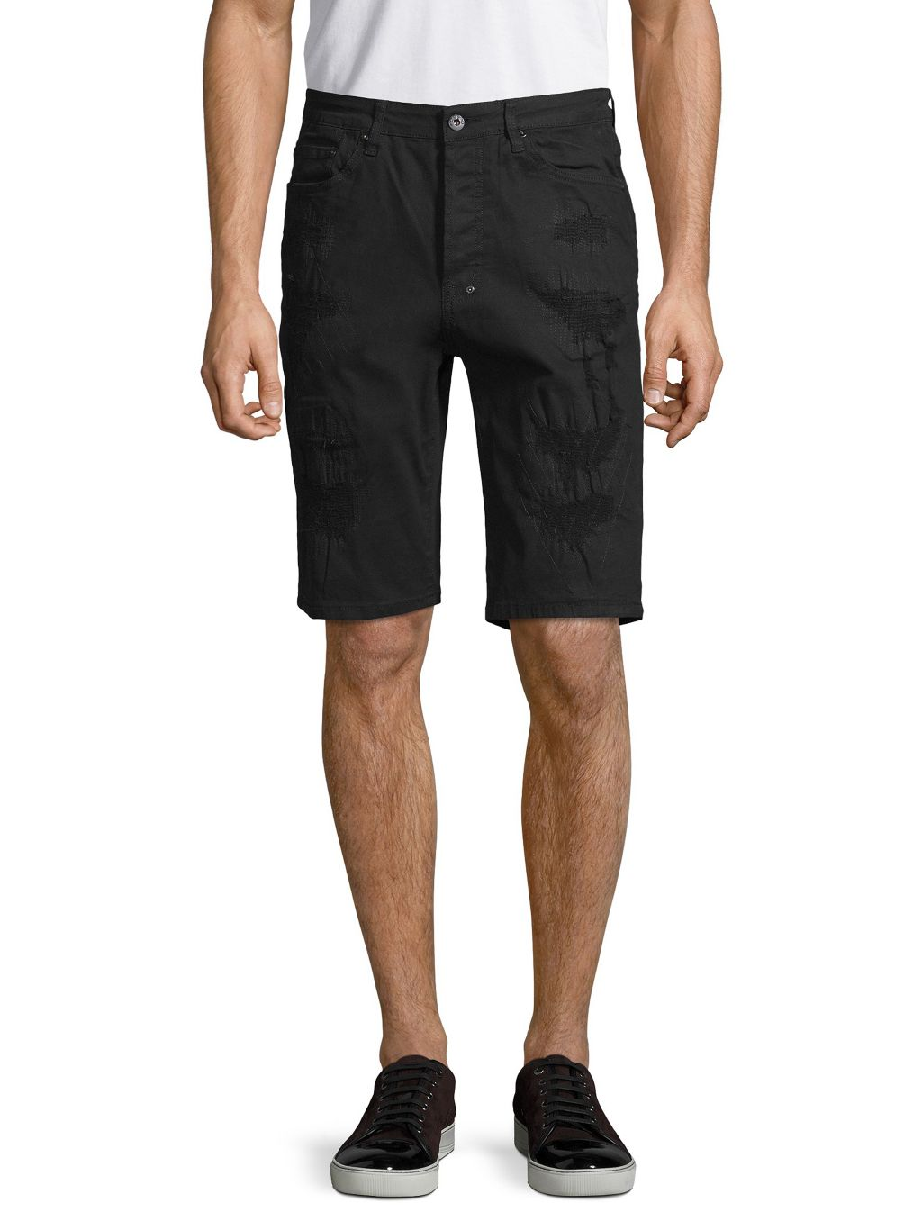 Prps Straight Stretch-Cotton Shorts