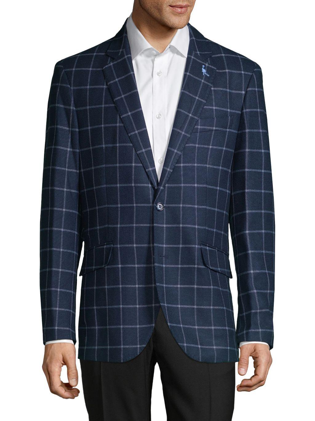 TailorByrd Standard-Fit Windowpane Sportcoat