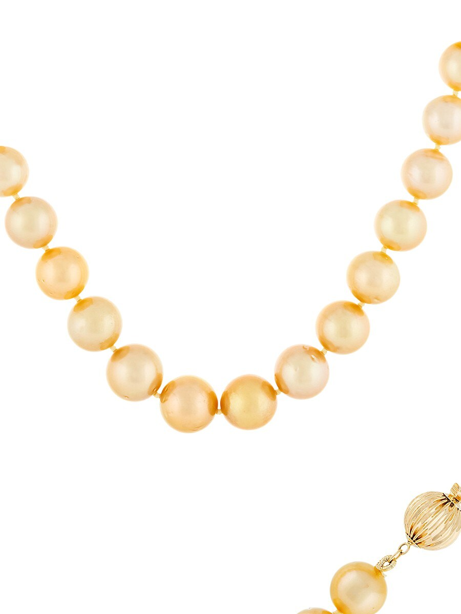 Women's 14K Yellow Gold & 12MM-14MM Round South Sea Pearl Necklace