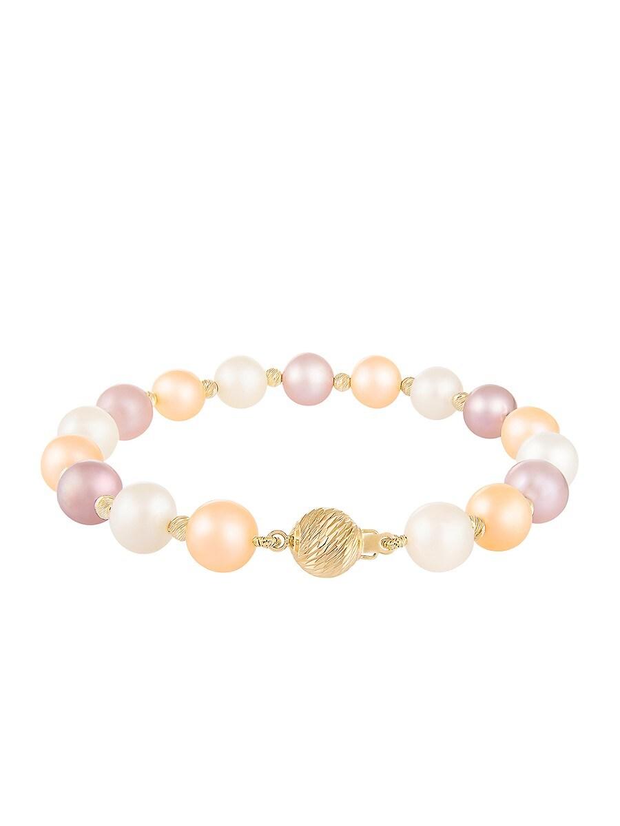 Women's 14K Yellow Gold & 8-9MM Cultured Freshwater Pearl Bracelet