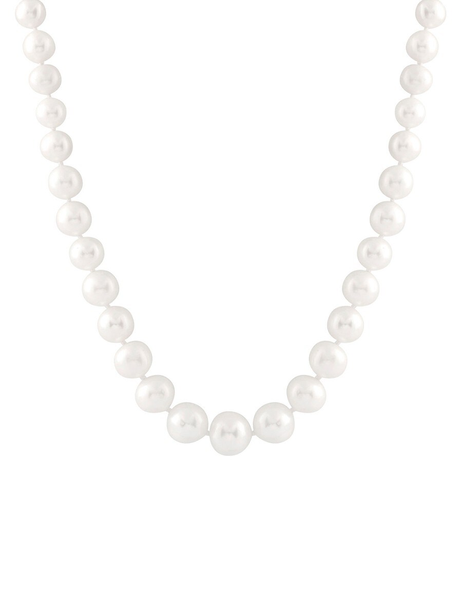 """Women's 14K Yellow Gold & 4-9MM Cultured Freshwater Pearl Graduated Necklace/18"""""""