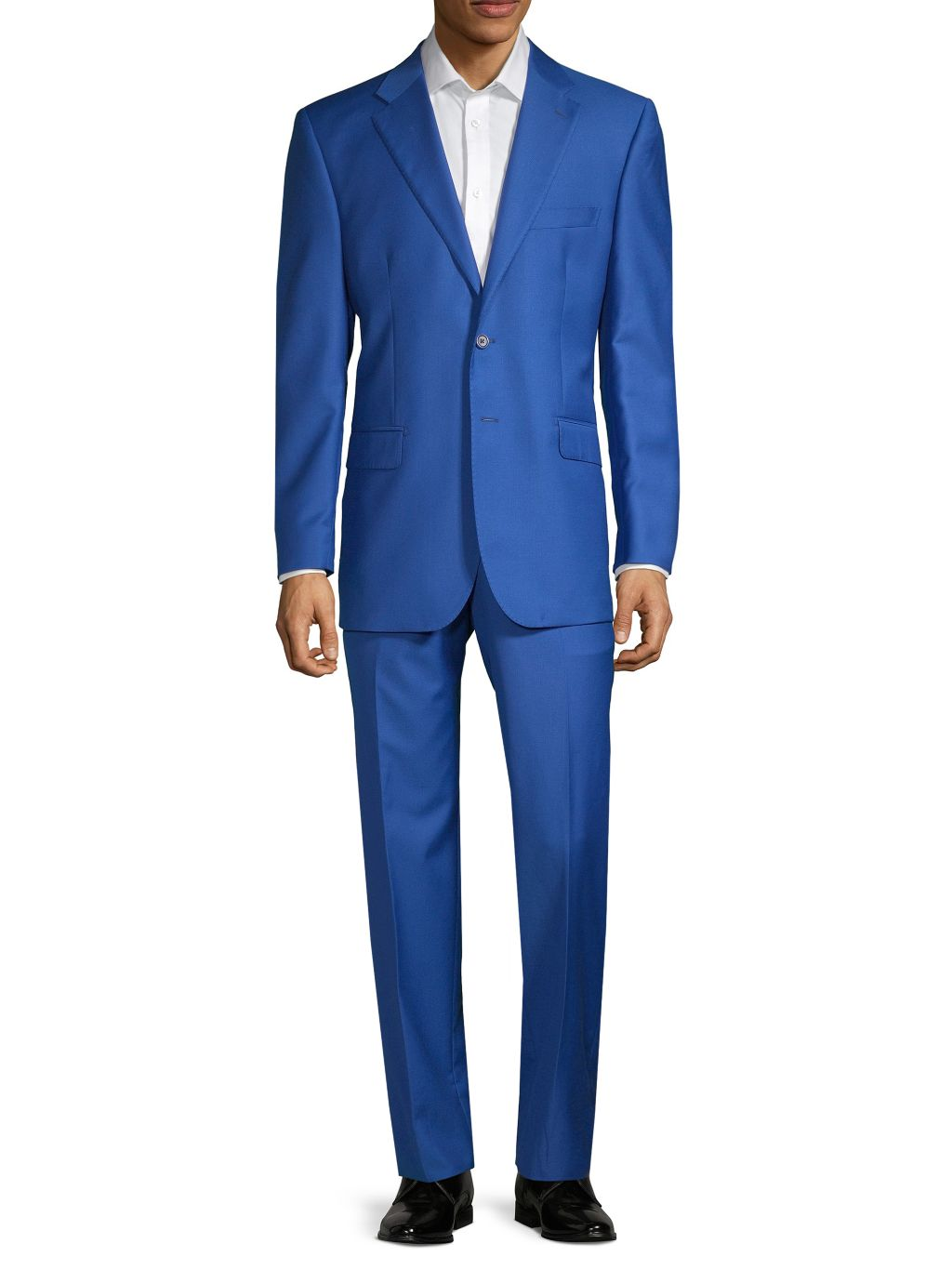 Saks Fifth Avenue Made in Italy Tailored-Fit Wool & Silk-Blend Suit