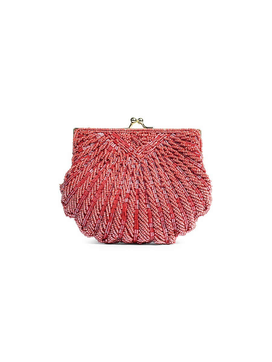 Women's Iconic Beaded Shell Convertible Clutch