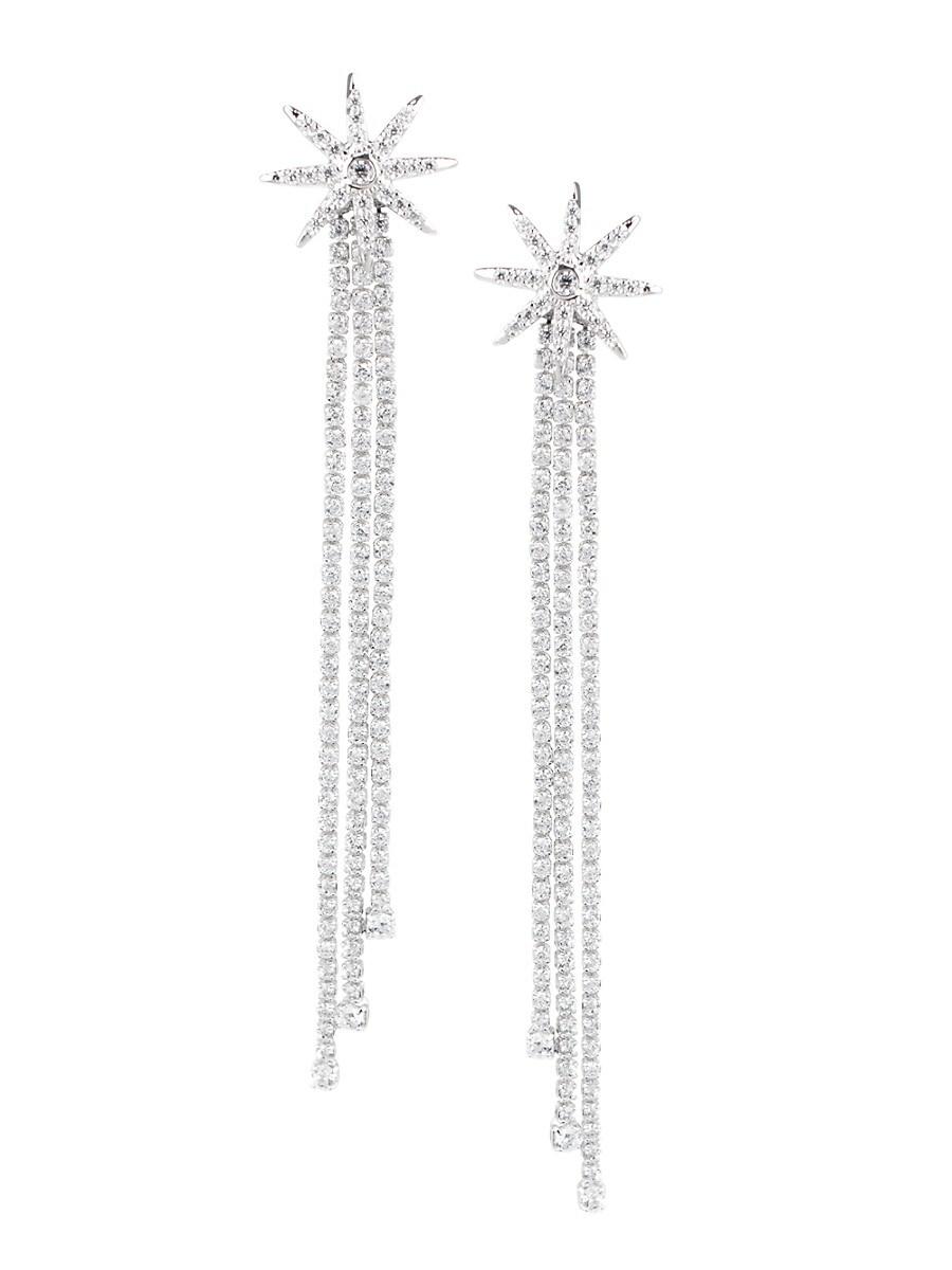 Women's Cubic Zirconia Starburst Drop Earrings