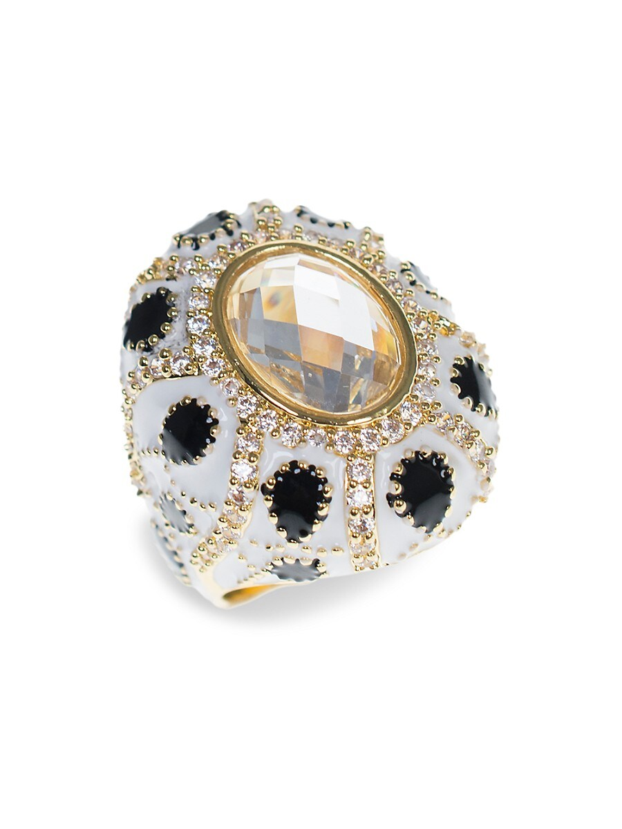 Women's 18K Goldplated & Crystal Turban Ring