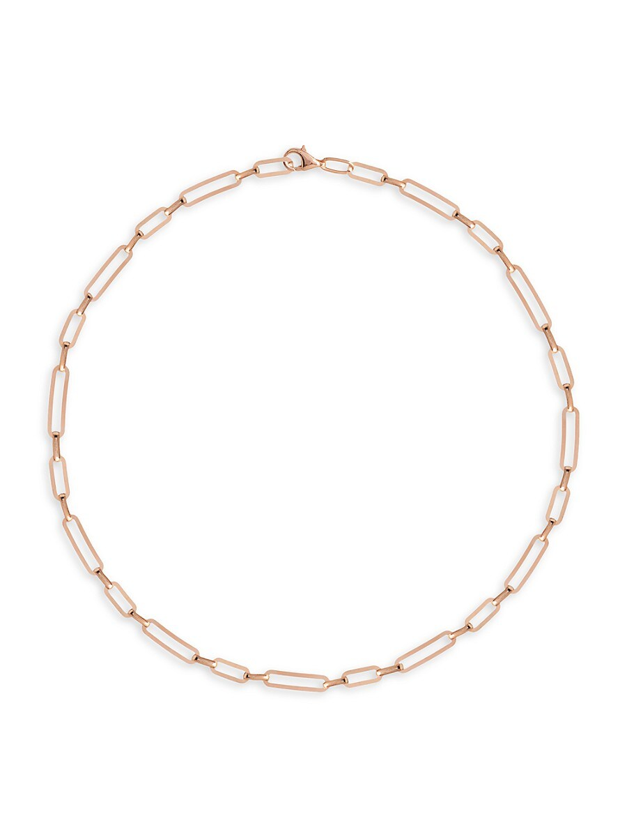 Women's 22K Rose Gold Vermeil Chain Link Choker Necklace