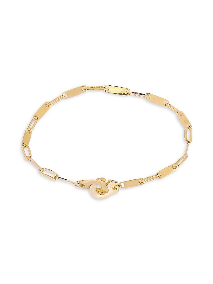 Women's 22K Gold Vermeil Forever Love Handcuff Chain Bracelet