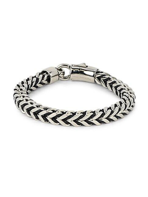 Stainless Steel Foxtail Chain Bracelet