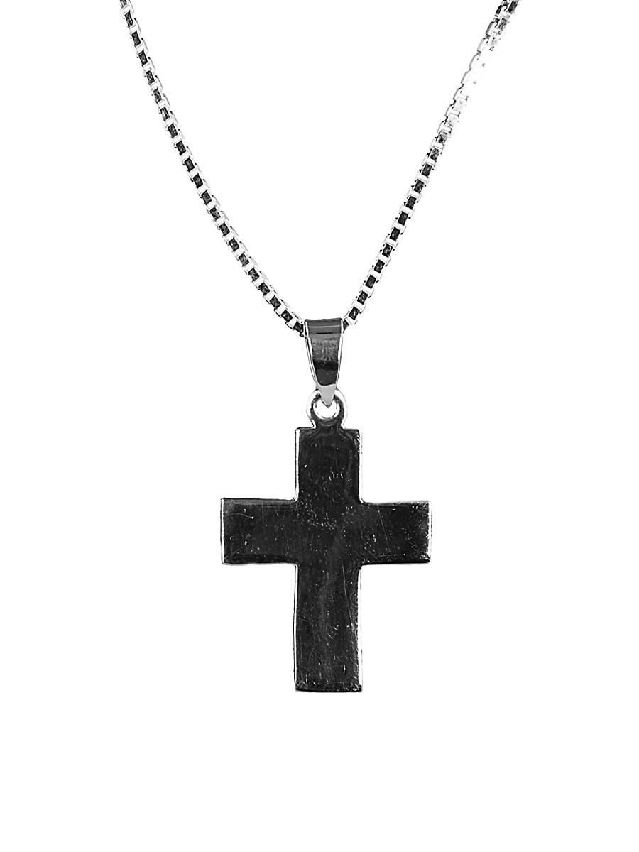 Men's Dell Arte Sterling Silver Roman Cross Pendant Necklace