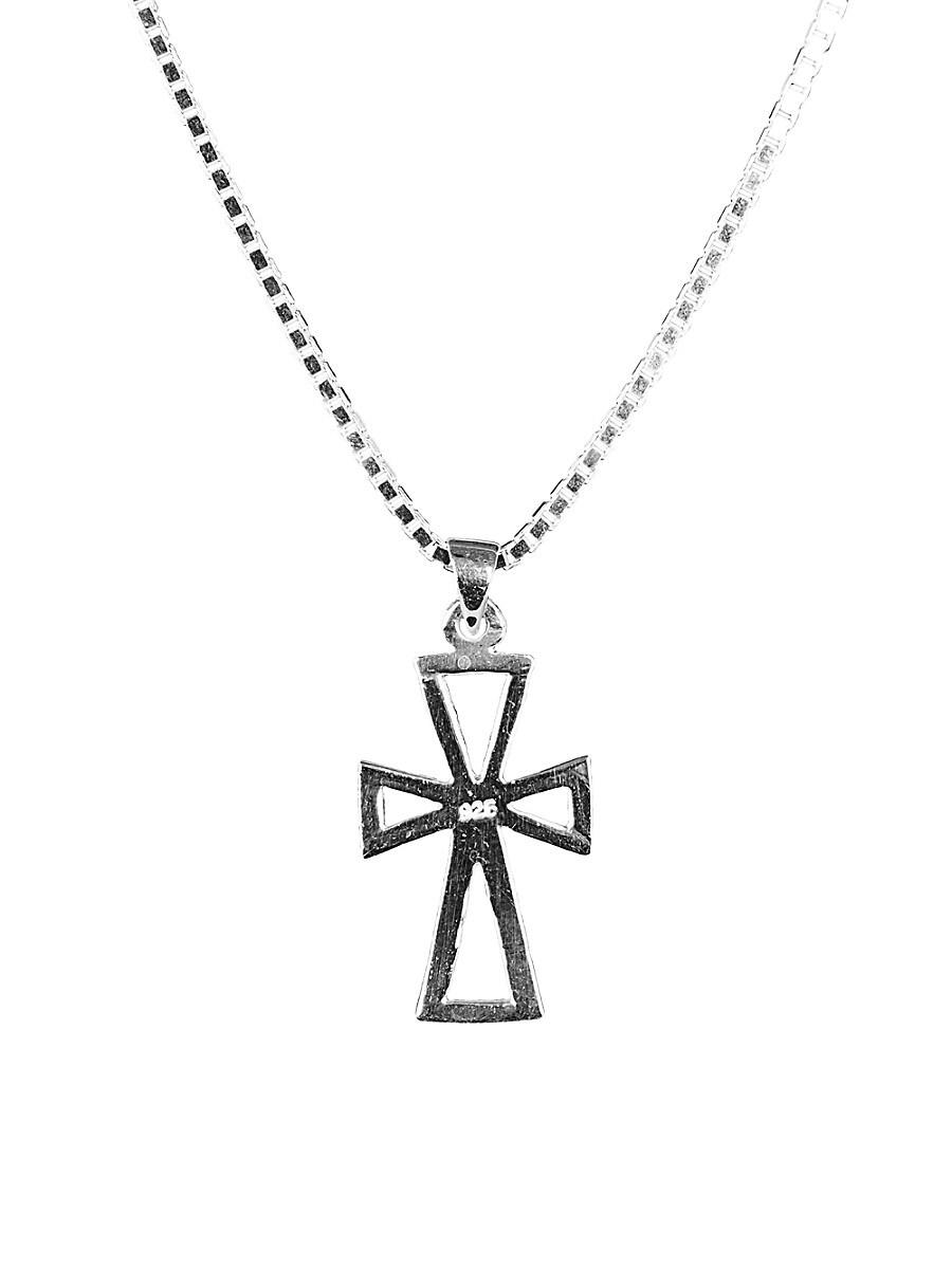 Men's Dell Arte Sterling Silver Order Of Malta Pendant Necklace