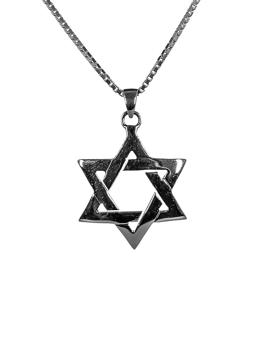 Men's Dell Arte Sterling Silver Star Of David Pendant Necklace
