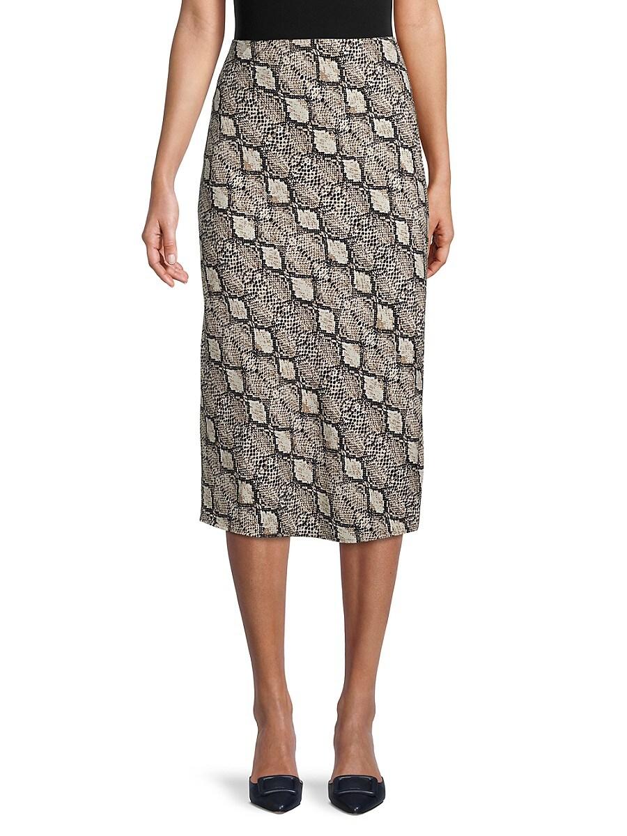 Women's Jaguar Print Midi Skirt