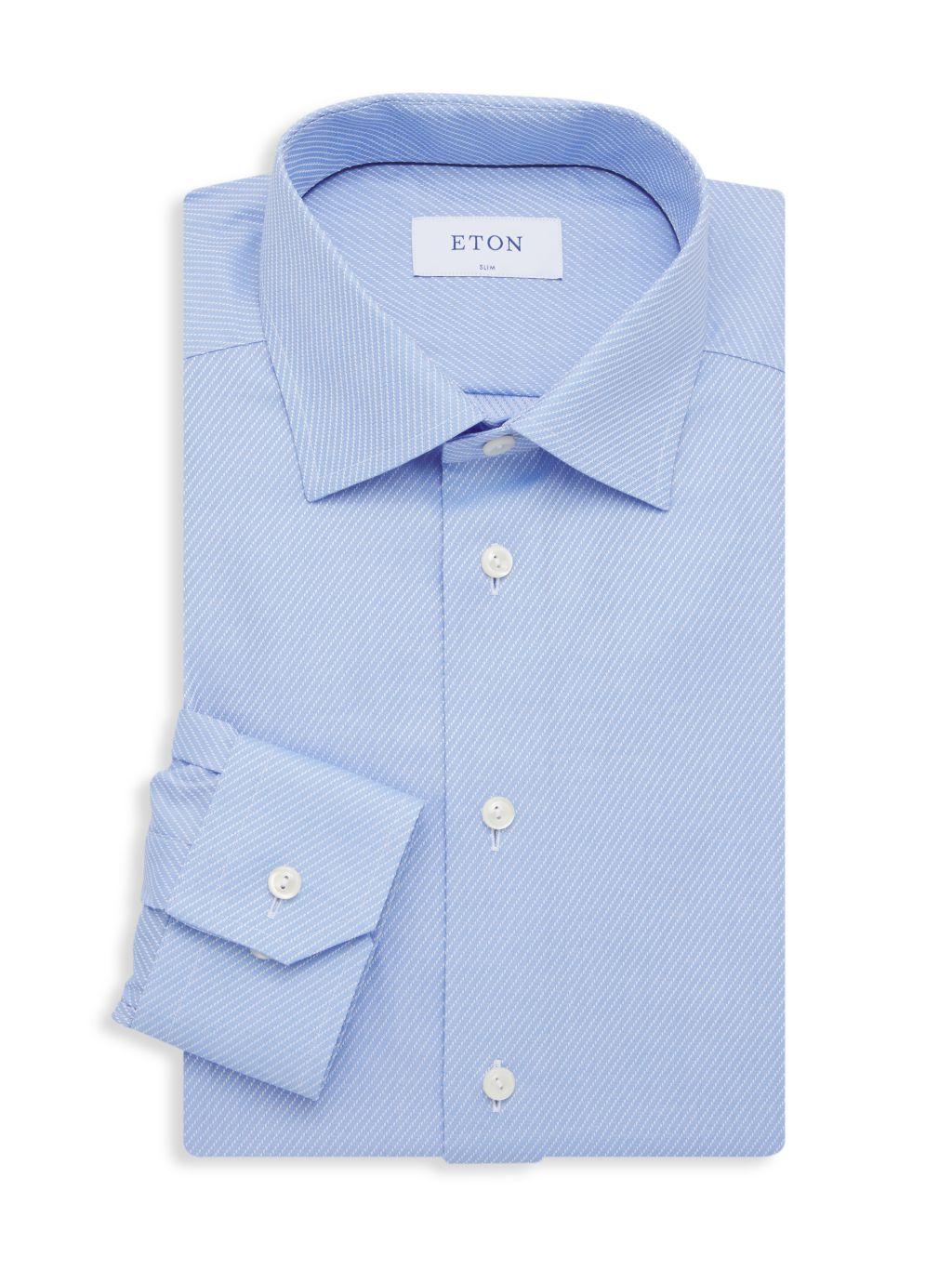 Eton Broken Stripe Dress Shirt