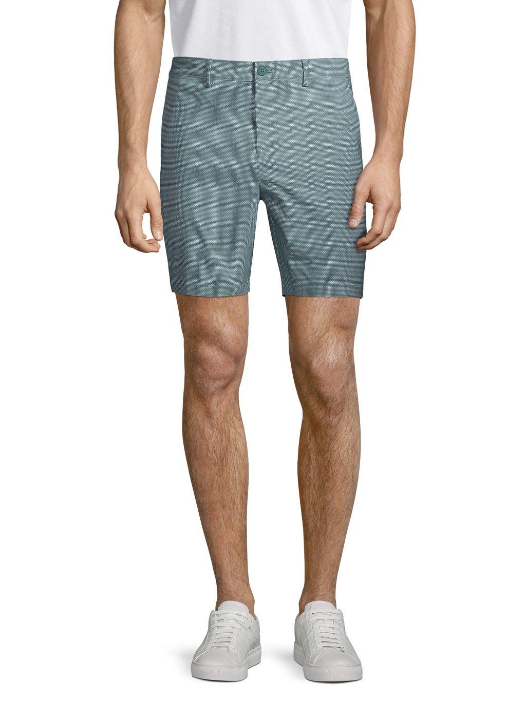Pure Navy Micro Dot-Print Shorts