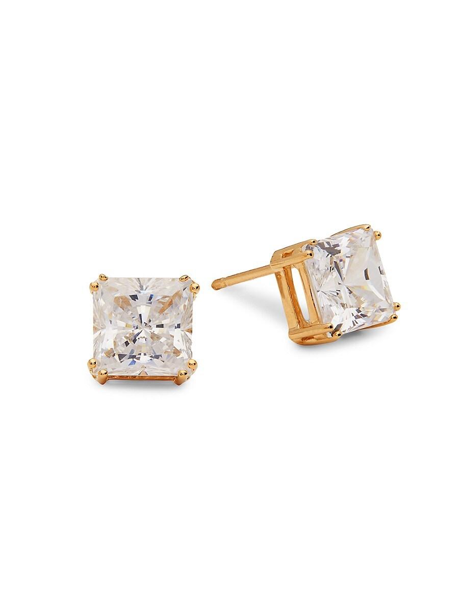 Women's Goldplated Sterling Silver & Cubic Zirconia Earrings