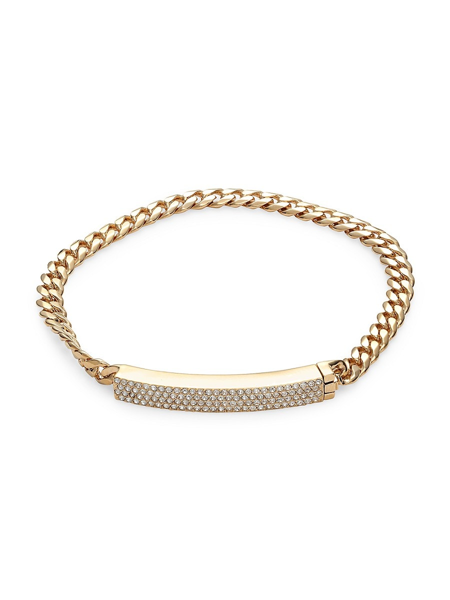 Women's Goldtone & Crystal Chain Bracelet