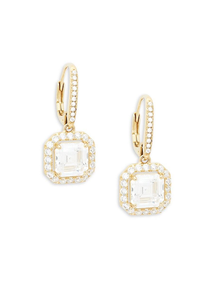 Women's Goldtone & Crystal Drop Earrings