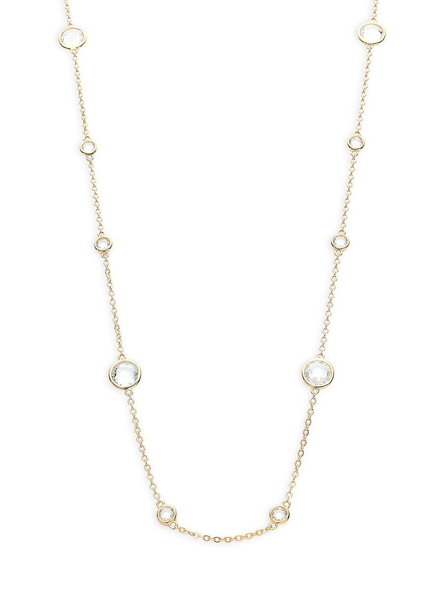 Women's Goldtone & Crystal Station Necklace
