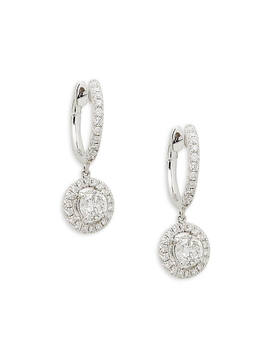 Women's 14K White Gold & 1.2 TCW Diamond Dangle Drop Earrings